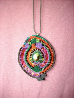Soutache Beading How To | ... . soutache embroidery colorful, spirals, beads - unique handicraft