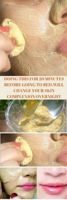Doing This For 20 Minutes Before Going To Bed Will Change Your Skin Complexion Overnight! Doing This For 20 Minutes Before Going To Bed Will Change Your Skin Complexion Overnight! Homemade Skin Care, Homemade Beauty, Homemade Hair, Beauty Care, Beauty Skin, Beauty Secrets, Beauty Hacks, Beauty Tips, Diy Beauty