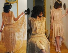 Roaring Twenties Inspired Lace Dress...look Sam, they had hi/lows in the 20's.  @Sami Cavallaro