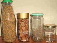 Δοχεία για αποθήκευση σπόρων Pots, Mason Jars, Mason Jar, Cookware, Jars, Glass Jars, Flower Planters