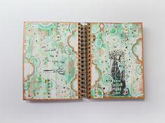 Scrap Around The World March Challenge - great art journal page