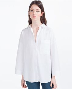 Image 5 of SHIRT WITH PLEATED BACK from Zara