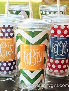 Two things we love all in one -- School Spirit and Monograms! #SmockedAuctions