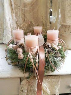 Advent Wreath, Wax Melts, Christmas Inspiration, Shabby, Joy, Wreaths, Candles, Table Decorations, Ornaments