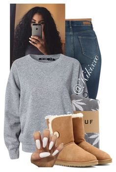 """""""Untitled #167"""" by kikixxo ❤ liked on Polyvore featuring BLK DNM, HUF and UGG Australia"""