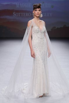 The 11 Most Popular Wedding Dress Trends from Barcelona Bridal Fashion Week 2019 Budget Wedding Dress, Strapless Lace Wedding Dress, Maggie Sottero Wedding Dresses, Custom Wedding Dress, Cheap Wedding Dress, Popular Wedding Dresses, Wedding Dress Trends, Gorgeous Wedding Dress, Colored Wedding Dresses