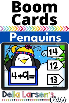 Boom Cards make great math centers this winter. Your kindergarten students will love the fun penguin activity. Ignite your winter math centers with this fun activitiy. Boom Cards are perfect for both remote learning and in case learning. Interactive Learning, Fun Learning, Learning Activities, Teaching Kids, Number Sense Kindergarten, Kindergarten Math Activities, Kindergarten Classroom, Math Fact Fluency, Math Facts