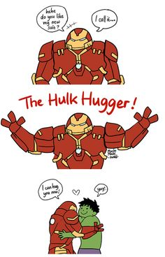 "-""Hulk Hugger"" by macho_mochi. How it SHOULD be.- Only Pepper and Bruce know its true purpose."