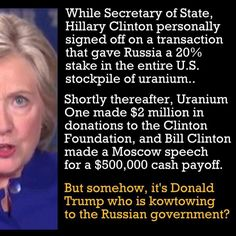 This is the truth about a democrat who talked to the Russians   Where is the outrage? Why didn't this story get covered every day for months? M.W.