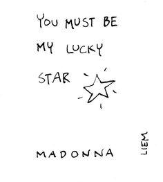 Madonna. Lucky Star. 365 illustrated lyrics project, Brigitte Liem.