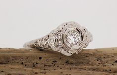 Antique Ring Vintage Diamond by FergusonsFineJewelry, $895.00