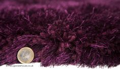 Pearl Grape Rug (texture close up), a hand-tufted polyester shaggy rug with super dense deep pile made of thick and thin yarns with an incredible 7cm pile height (available in 5 sizes) http://www.therugswarehouse.co.uk/shaggy-rugs/pearl-rugs/pearl-grape-rug.html #rugs #shaggyrugs