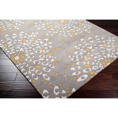 Hand-tufted Contemporary Gray Zandoline New Zealand Wool Abstract Rug (5' x 8') - office