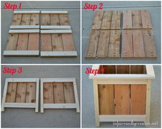 I built another project off of Ana White's site. The cedar planter plan was one of the easiest builds for me. I am slowly building up my carpentry skills to tackle some new end tables for my living…(Diy Pallet Planter) Cedar Planters, Diy Planter Box, Wooden Planters, Diy Planters, Pallet Planters, Diy Wood Projects, Outdoor Projects, Home Projects, Woodworking Plans