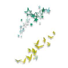 Sizzix Thinlits Die Set 2PK - Birds and Stars