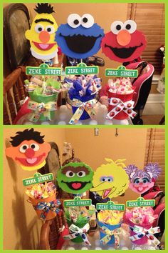 Sesame Street table decorations for my son's party! :)