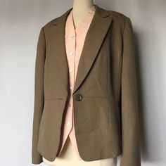 """Le Suit  jacket and pants suit S-18 New no tags , good quality pantsuit,light olive color .Fully lined. Length of jacket is 24.5"""" Length of pants is31.5"""" inseam.Waist 39""""-40""""If you consider to buy with this top I'll sell it as a bundle with good discount Le Suit Jackets & Coats"""