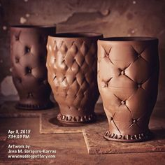 Decorating more mugs. :) #instaart #teacups #instalike #instadaily #inspiration #clay #cups #ceramic #lamaisoncréole…