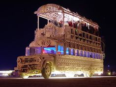 Burning man art car