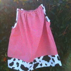 Cowgirl pillowcase style dress