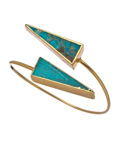 Janna Conner Turquoise Long Triangle Bangle