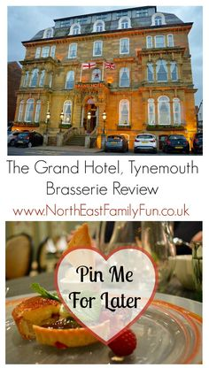 The Grand Hotel in Tynemouth is a pretty special place - it's somewhere we have stayed over on numerous special occasions and I hav. North Shields, North East England, New Menu, North Sea, Grand Hotel, Newcastle, Beautiful Landscapes, Places Ive Been, Britain