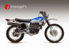 "Motosketches: MASH ""ENDURO"" 450 Trail Motorcycle, Scrambler Motorcycle, Moto Bike, Motorcycle Design, Enduro Vintage, Vintage Motocross, Vintage Bikes, Vintage Honda Motorcycles, Custom Motorcycles"