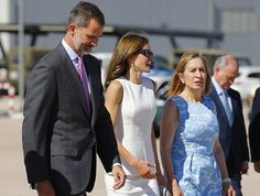 King Felipe VI and Queen Letizia Depart to United Kingdom