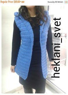 260f2b9866 Vest Sweater vest Vest for women Women vest Hooded vest Sweater Knit vest  Vests Waistcoat Crochet vest Crochet hoodie Poncho hoodie A wonderfully  hand ...