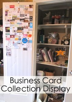 How to display a business card collection
