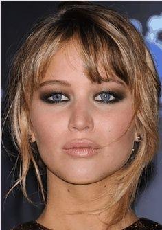 Jennifer Lawerence - love her eye make up