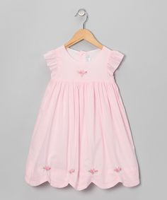 Look what I found on #zulily! Pink Rose Babydoll Dress - Infant & Toddler by Fantaisie Kids #zulilyfinds