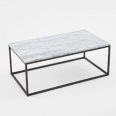 Box Frame Rectangle Coffee Table - Marble $529 from West Elm