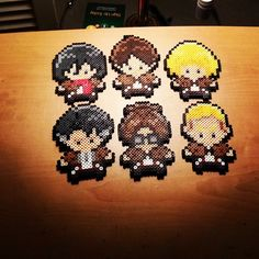 Attack on Titan Crew perler beads by kimandthensome