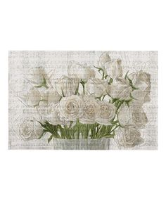 Another great find on #zulily! 'White Rose Love' Art Print by Oliver Gal #zulilyfinds
