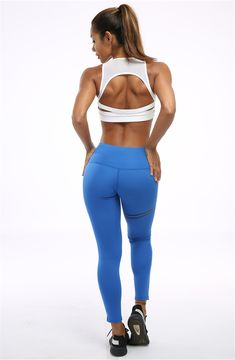MITIAO Womens Color Block Elastic Fitness Vest Yoga Running Pants Leggings