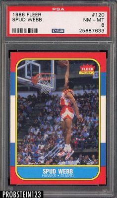 92e851d26 1986 Fleer Basketball Spud Webb 120 PSA 8 NMT 198687 NBA Trading Card Atlanta  Hawks RC    Learn more by visiting the image link.