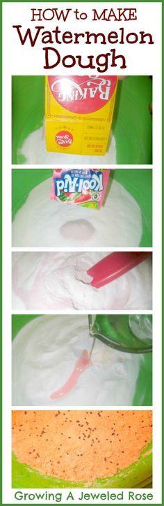 How to make watermelon dough- a textured & moldable dough that smells just like watermelon.