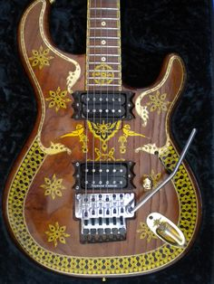 "Japan's Akira Takasaki (Loudness) designed Killer Guitars' ""KG Violator Sitar"" Indonesian influenced Superstrat"