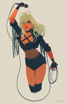 Black Canary quick drawing while listening to Black Canary Bandcamp