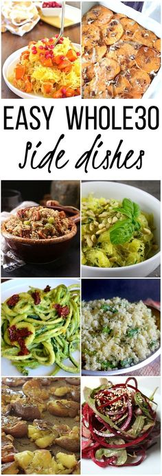 Easy Whole 30 / Paleo Side Dishes for any occasion! Easy Whole 30 / Paleo Side Dishes for any occasion! Whole Foods, Whole 30 Diet, Paleo Whole 30, Whole 30 Lunch, Paleo Diet Plan, How To Eat Paleo, Paleo Food, Paleo Menu, Diet Menu