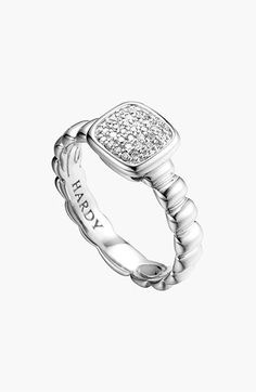 John Hardy 'Bedeg' Square Pavé Ring | Nordstrom