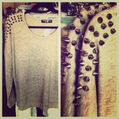 Spike top Only has been worn few times Brandy Melville Tops