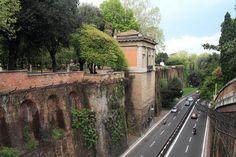 Overpass in the Villa Borghese gardens, via Flickr.