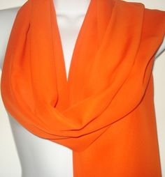 Orange Chiffon Scarf Wrap by fingerinthepie, $18.00 USD