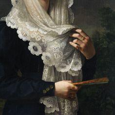 Vicente López y Portaña - Doña Gertrudis de Compte y de Bruga (detail)