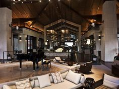 The International Interior Design Association released the winners of its Annual Global Excellence Awards. Here's a recap of the winning projects. Chalet Interior, Interior Design Awards, Excellence Award, Bar Lounge, Building Design, Interior Inspiration, Living Room, Table, Furniture