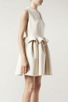 Del Pozo Sleeveless Sculpted Waist Dress - Peplum Shift | delpozo