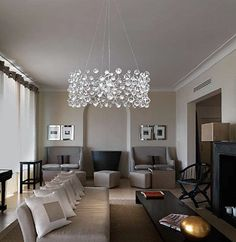 Copyrighted Material Pls Credit And Link Via The Modern Sybarite Find Chandelier In Living RoomDining