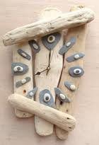 Drift wood, beach pebble clock